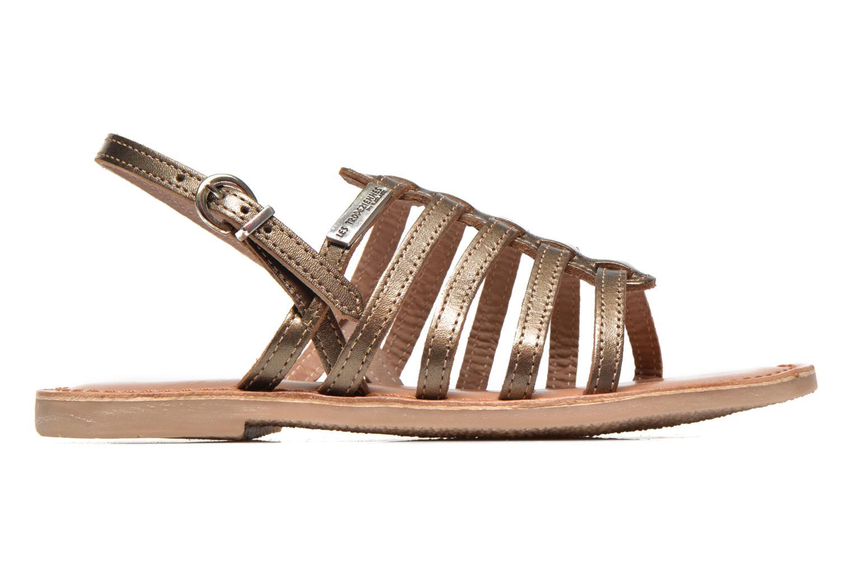 Sandales et nu-pieds Les Tropéziennes par M Belarbi Mangue E Or et bronze vue derrière