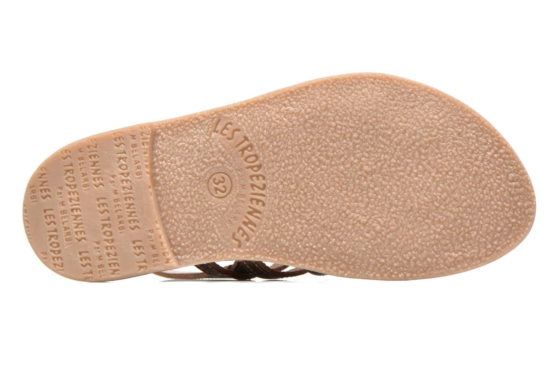Sandales et nu-pieds Les Tropéziennes par M Belarbi Mangue E Or et bronze vue haut