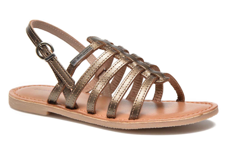 Sandales et nu-pieds Les Tropéziennes par M Belarbi Mangue E Or et bronze vue détail/paire