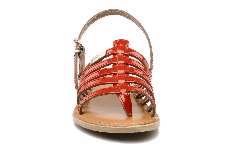 Sandales et nu-pieds Les Tropéziennes par M Belarbi Herisson E Rouge vue portées chaussures