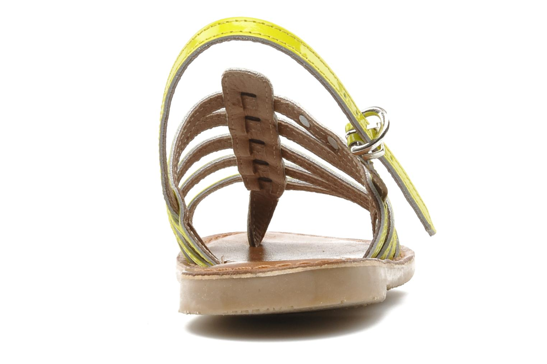 Sandales et nu-pieds Les Tropéziennes par M Belarbi Herflash E Jaune vue droite