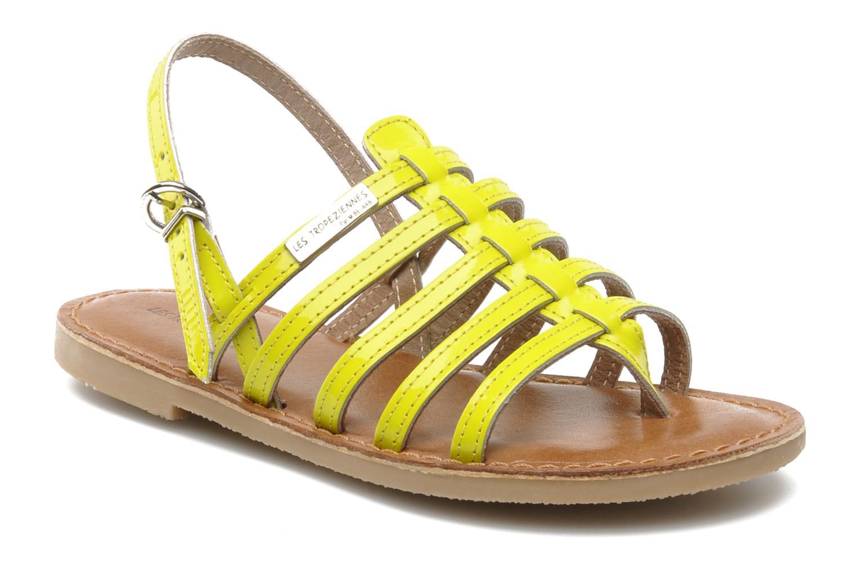 Sandales et nu-pieds Les Tropéziennes par M Belarbi Herflash E Jaune vue détail/paire