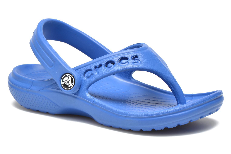 Tongs Crocs Baya Summer Flip Kids Bleu vue détail/paire