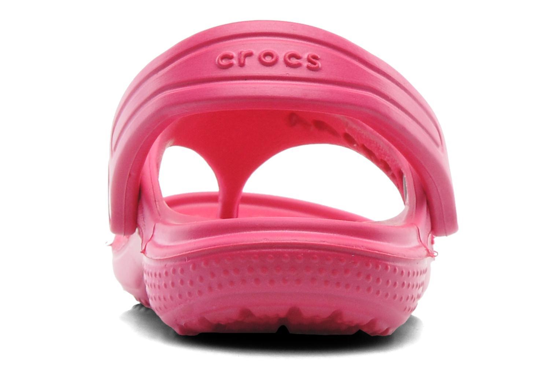 Tongs Crocs Baya Summer Flip Kids Rose vue droite