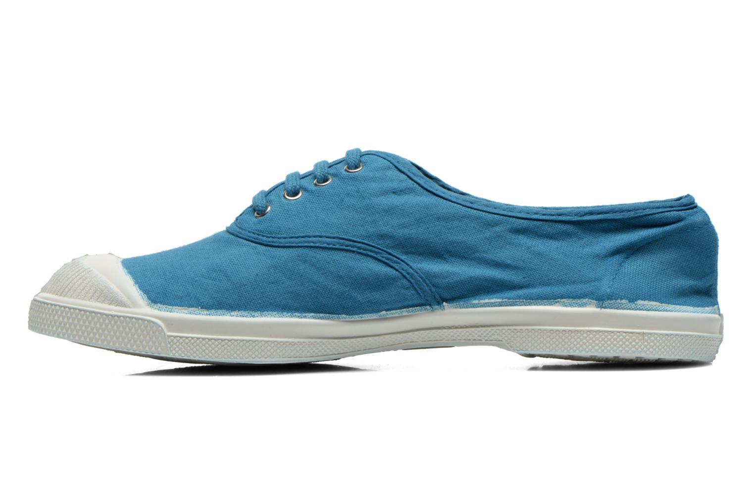 Baskets Bensimon Tennis Lacets Bleu vue face