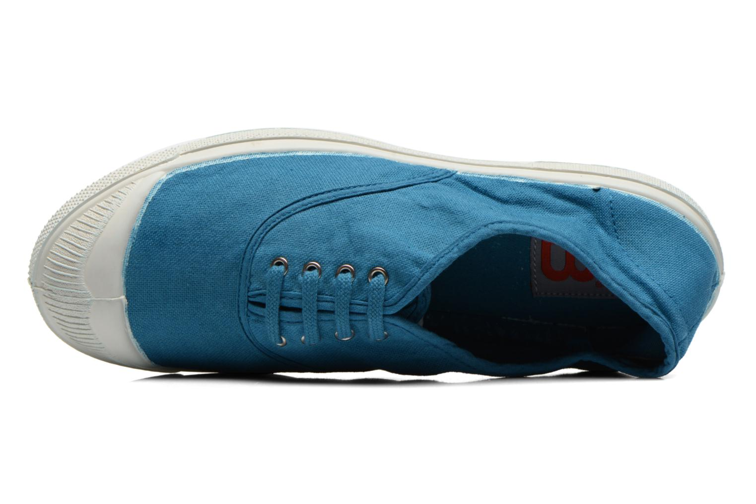 Trainers Bensimon Tennis Lacets Blue view from the left