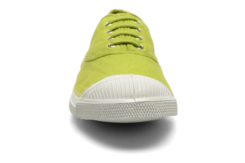 Baskets Bensimon Tennis Lacets Vert vue portées chaussures