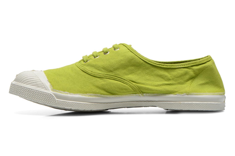 Baskets Bensimon Tennis Lacets Vert vue face