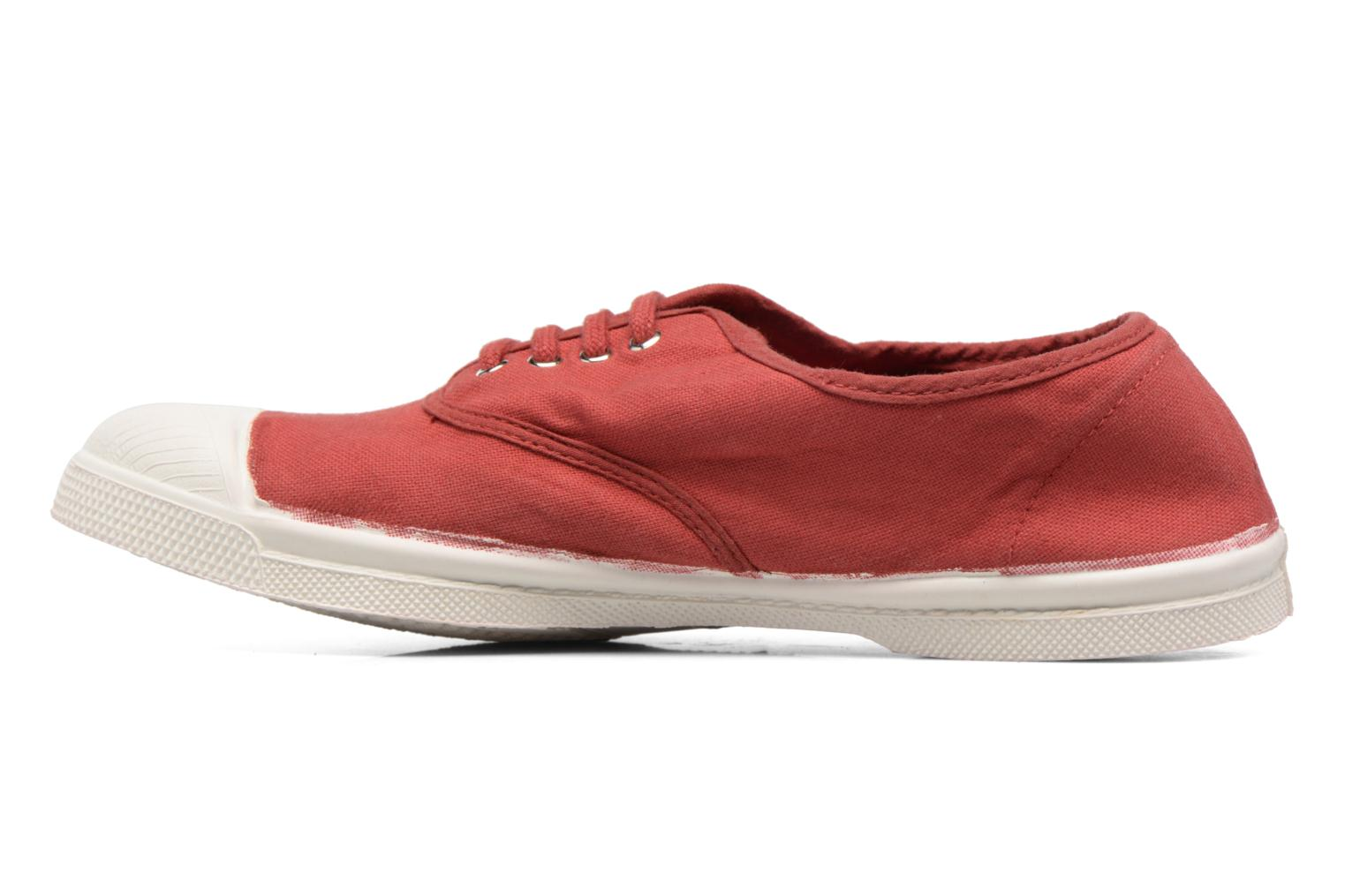 Baskets Bensimon Tennis Lacets Rouge vue face
