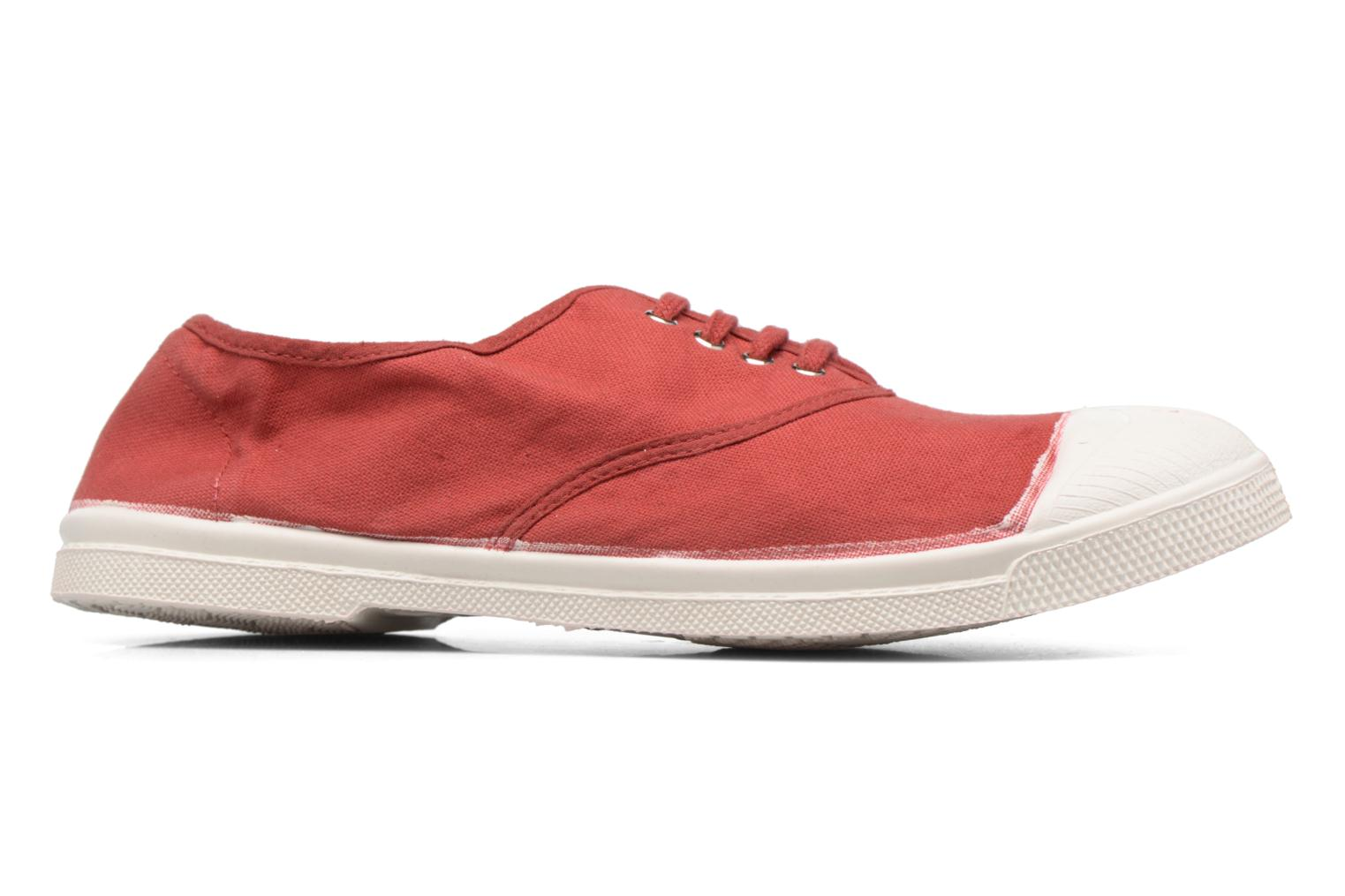 Trainers Bensimon Tennis Lacets Red back view