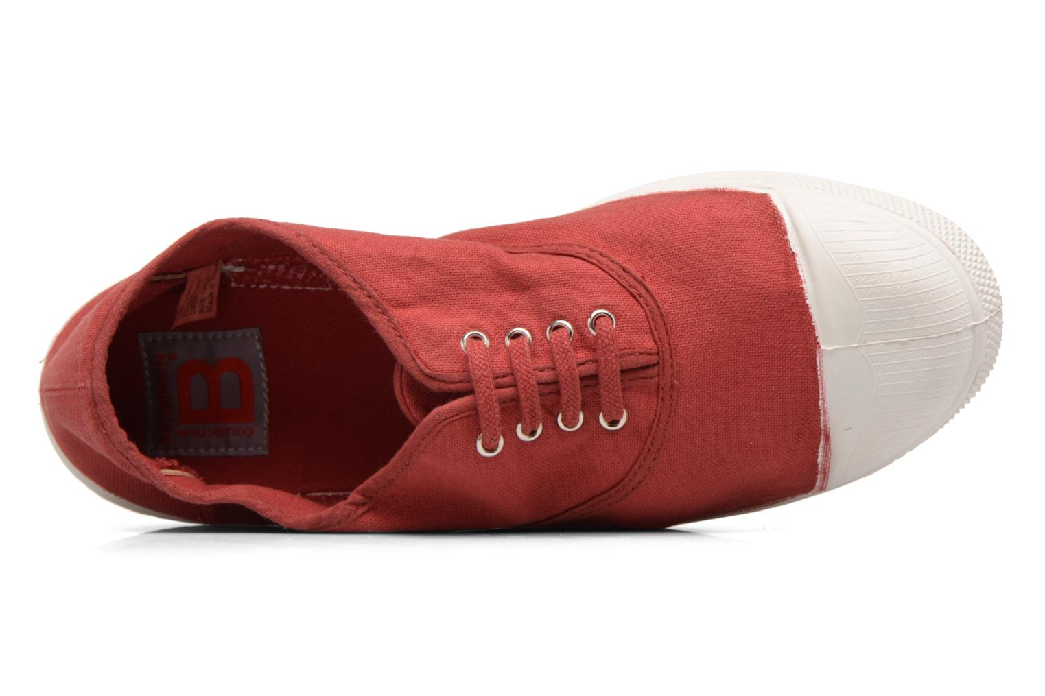 Baskets Bensimon Tennis Lacets Rouge vue gauche