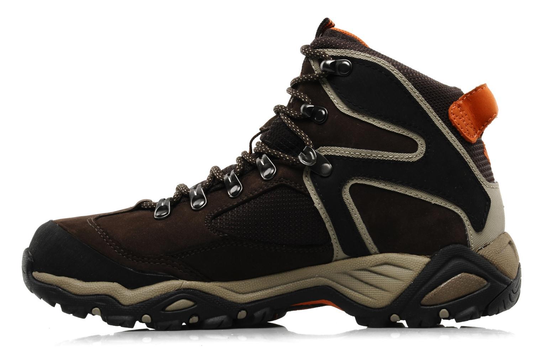 Chaussures de sport Columbia Pole creek omni-tech Marron vue face