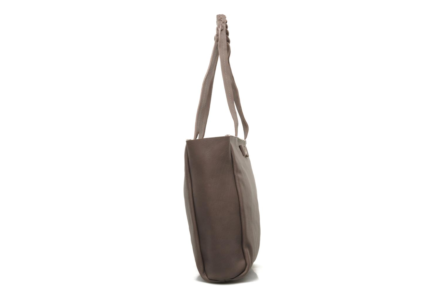 Handbags Petite mendigote QUEEN VICTORIA CABAS Grey view from the right