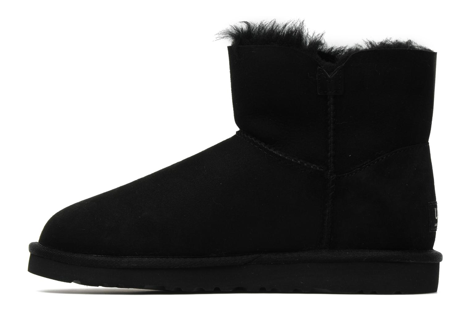 Bottines et boots UGG Mini bailey button Noir vue face
