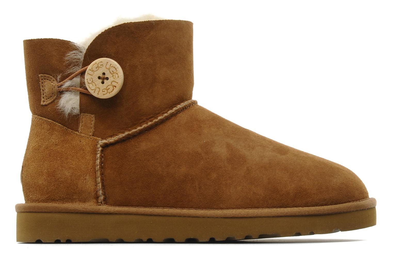 Stiefeletten & Boots UGG Mini bailey button braun ansicht von hinten