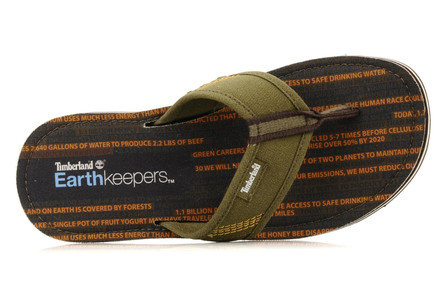 Flip flops Timberland Earthkeppers sandal Grqphic Flip Flop Green view from the left