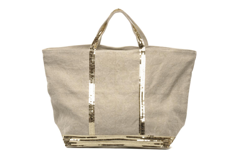 Handtaschen Vanessa Bruno Cabas Lin paillettes XL beige ansicht von vorne