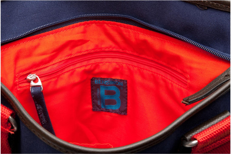 Sacs à main Bensimon Surplus Cabas bicolore Bleu vue derrière