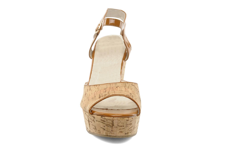 Sandales et nu-pieds Georgia Rose Flica Marron vue portées chaussures