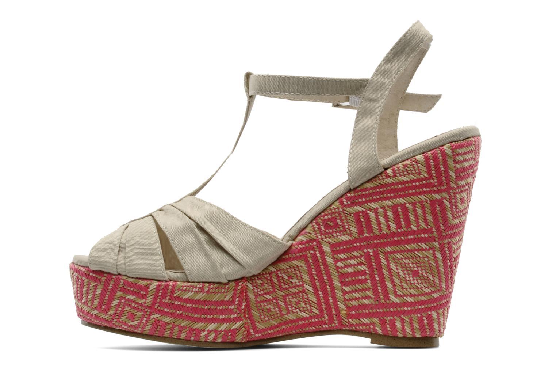 Sandales et nu-pieds Georgia Rose Farto Beige vue face