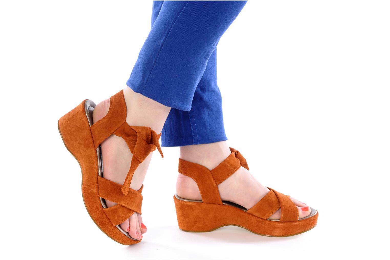 Sandali e scarpe aperte Addict-Initial Ariana Arancione immagine dal basso