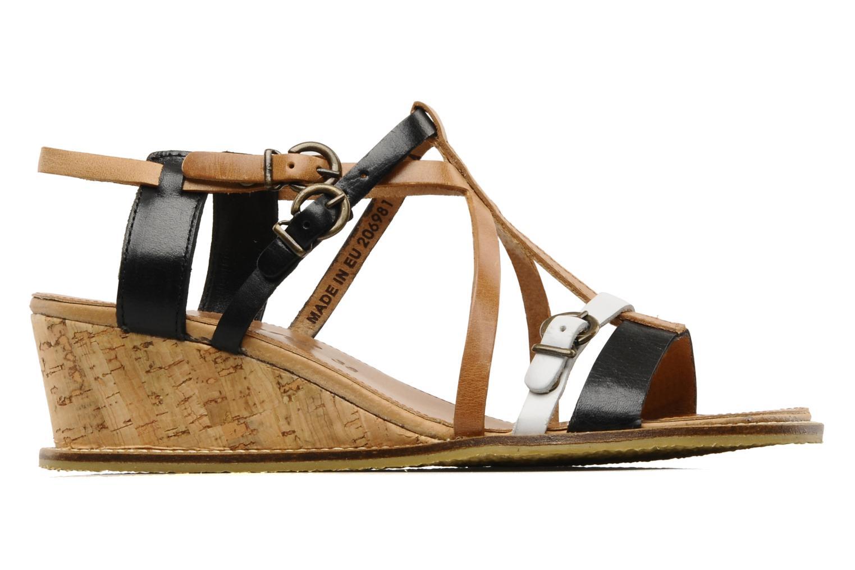 Sandales et nu-pieds Kickers SUBMARINE Noir vue derrière