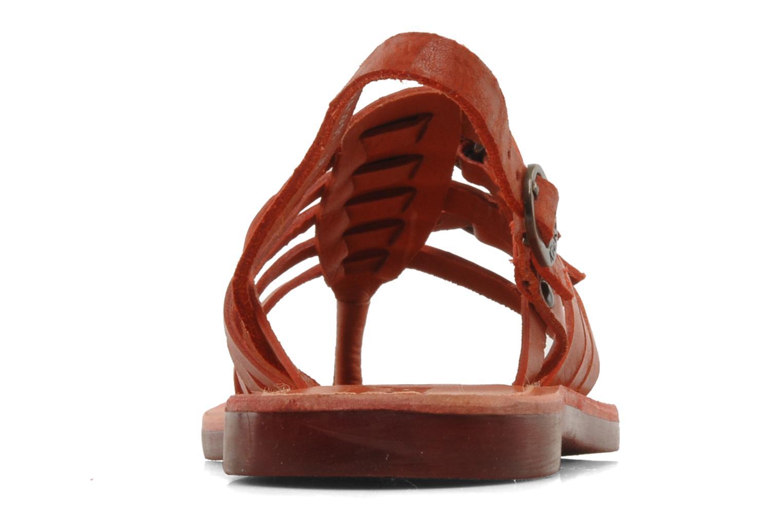 Sandales et nu-pieds Kickers Dixmille Rouge vue droite