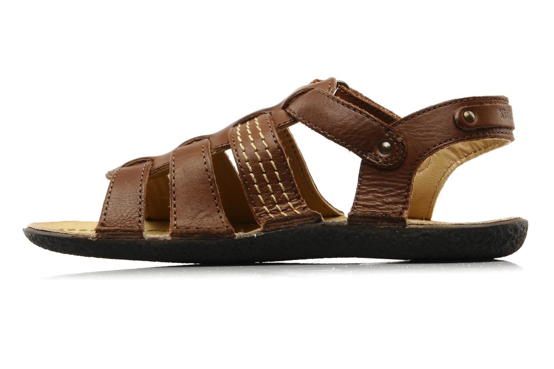 Sandales et nu-pieds Kickers PEPITO V Marron vue face