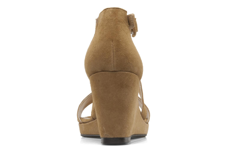 Sandales et nu-pieds Valensi Vira Beige vue droite