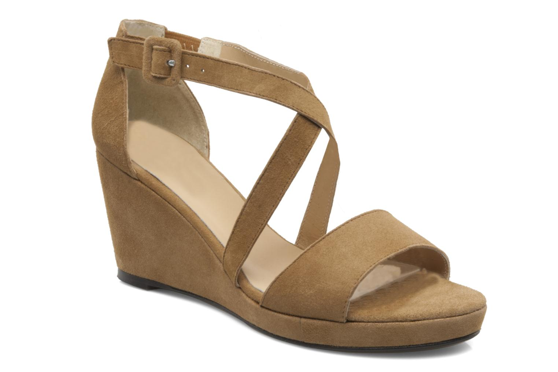 Sandales et nu-pieds Valensi Vira Beige vue détail/paire