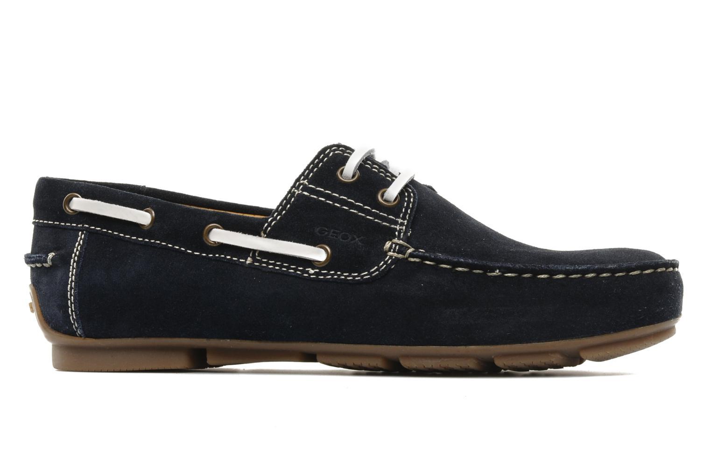 Chaussures à lacets Geox U lux B Bleu vue derrière