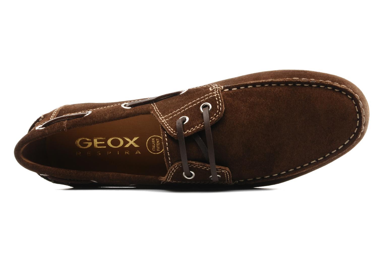 Chaussures à lacets Geox U lux B Marron vue gauche