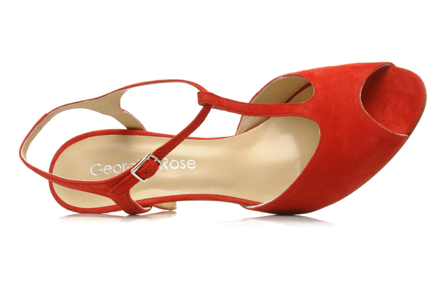 Sandals Georgia Rose Sato Red view from the left
