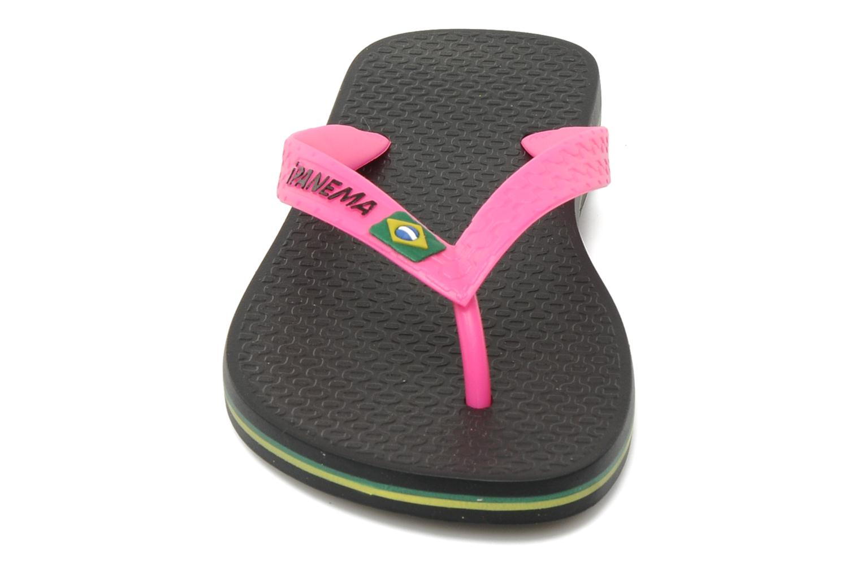 Tongs Ipanema Classica Brasil II f Noir vue portées chaussures