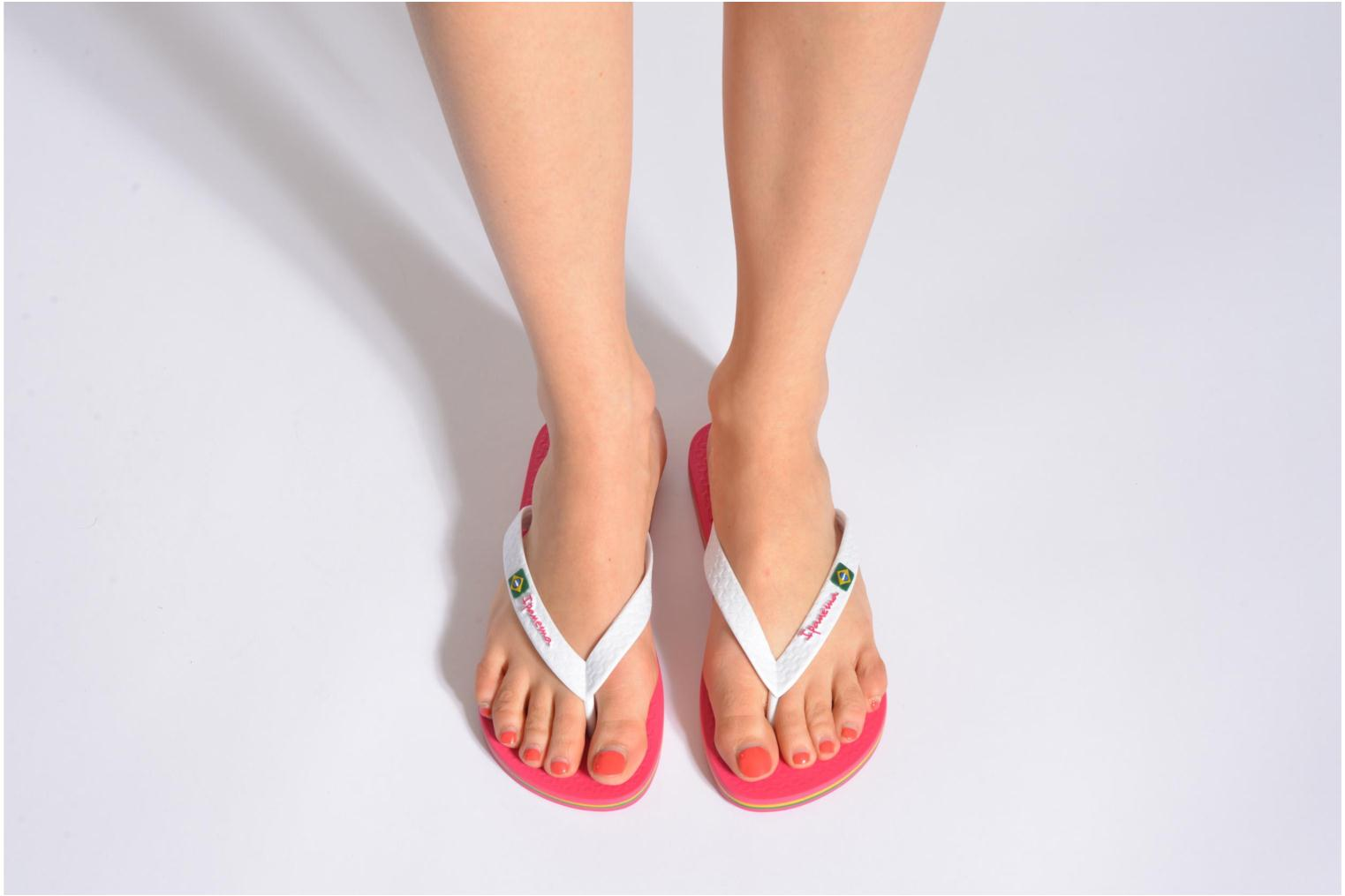 Flip flops Ipanema Classica Brasil II f White view from underneath / model view