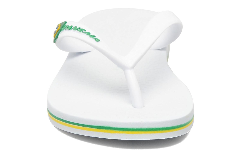 Tongs Ipanema Classic brasil II k Blanc vue portées chaussures
