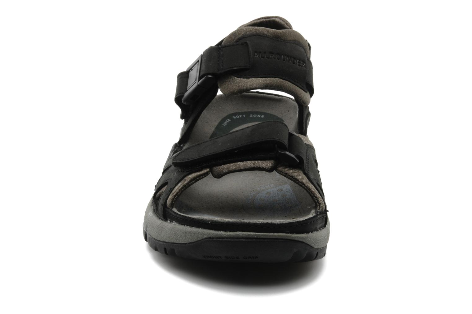 Sport shoes Allrounder by Mephisto Alligator Black model view
