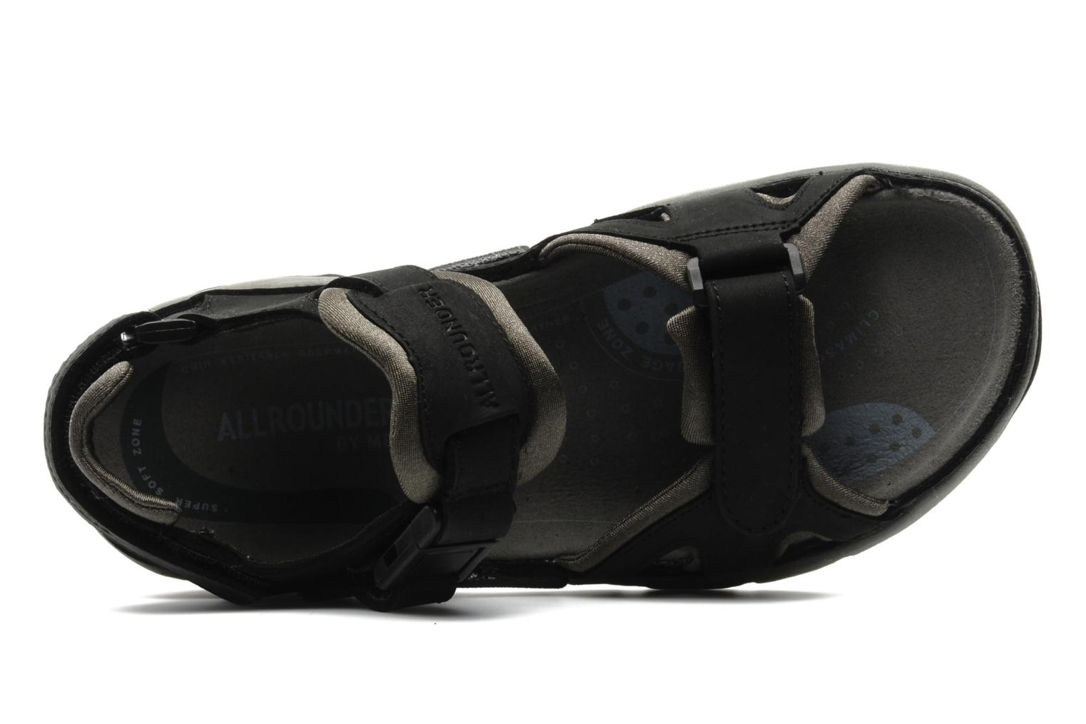 Sport shoes Allrounder by Mephisto Alligator Black view from the left
