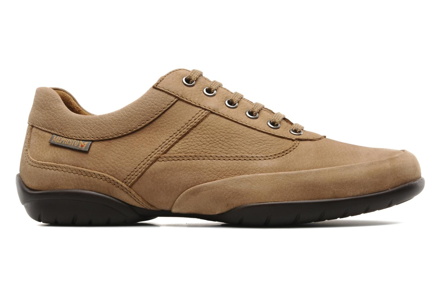 Lace-up shoes Mephisto Balek Beige back view