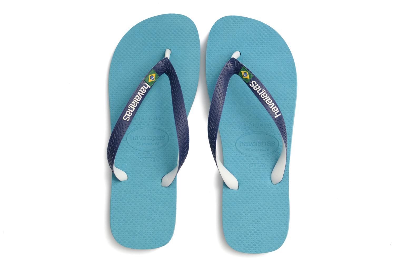 Flip flops Havaianas Brasil Mix H Blue 3/4 view