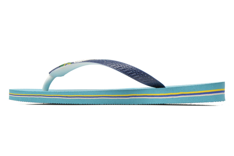 Flip flops Havaianas Brasil Mix H Blue front view