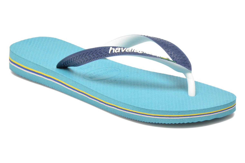 Chanclas Havaianas Brasil Mix H Azul vista de detalle / par