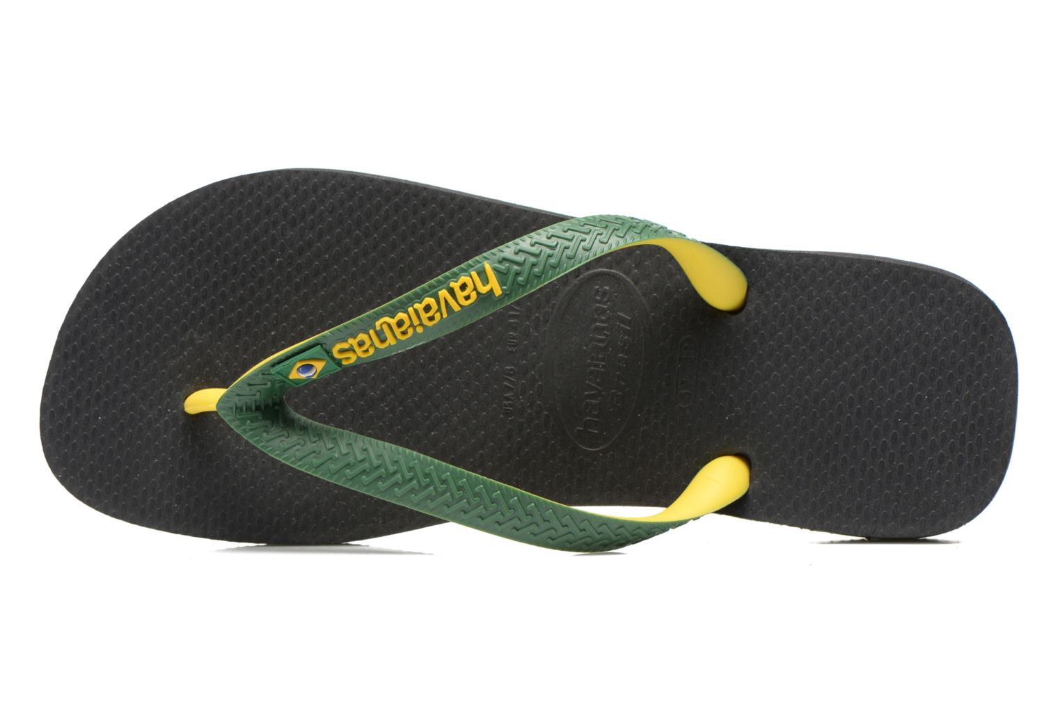 Flip flops Havaianas Brasil Mix H Green view from the left
