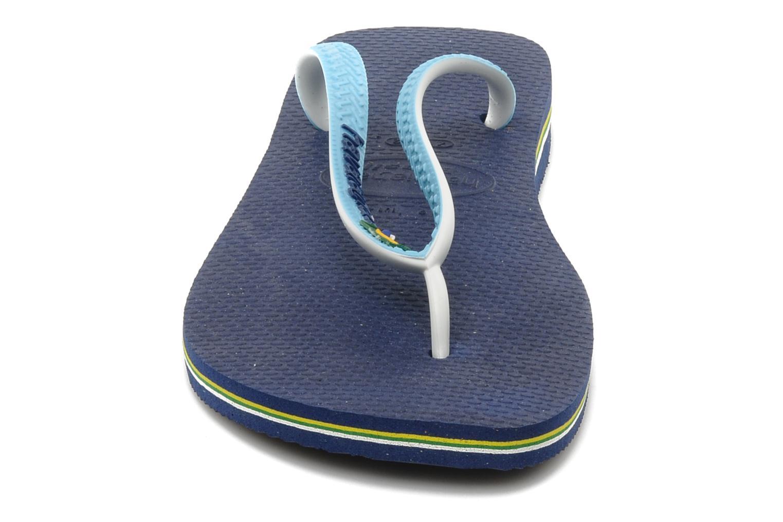 Chanclas Havaianas Brasil Mix H Azul vista del modelo
