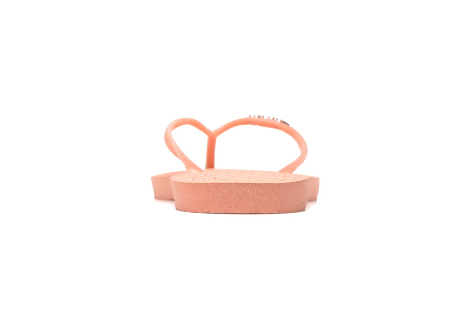 Tongs Havaianas Slim Logo Metallic Rose vue droite