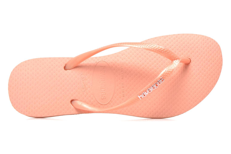 Slim Logo Metallic Light Pink
