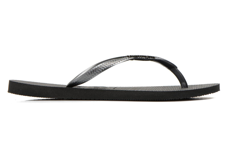 Flip flops Havaianas Slim Logo Metallic Black back view