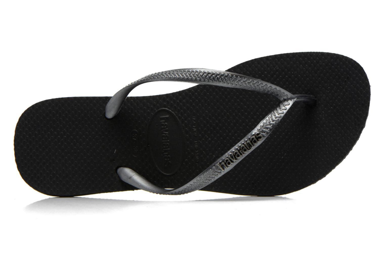 Slim Logo Metallic BLACK GRAPHITE
