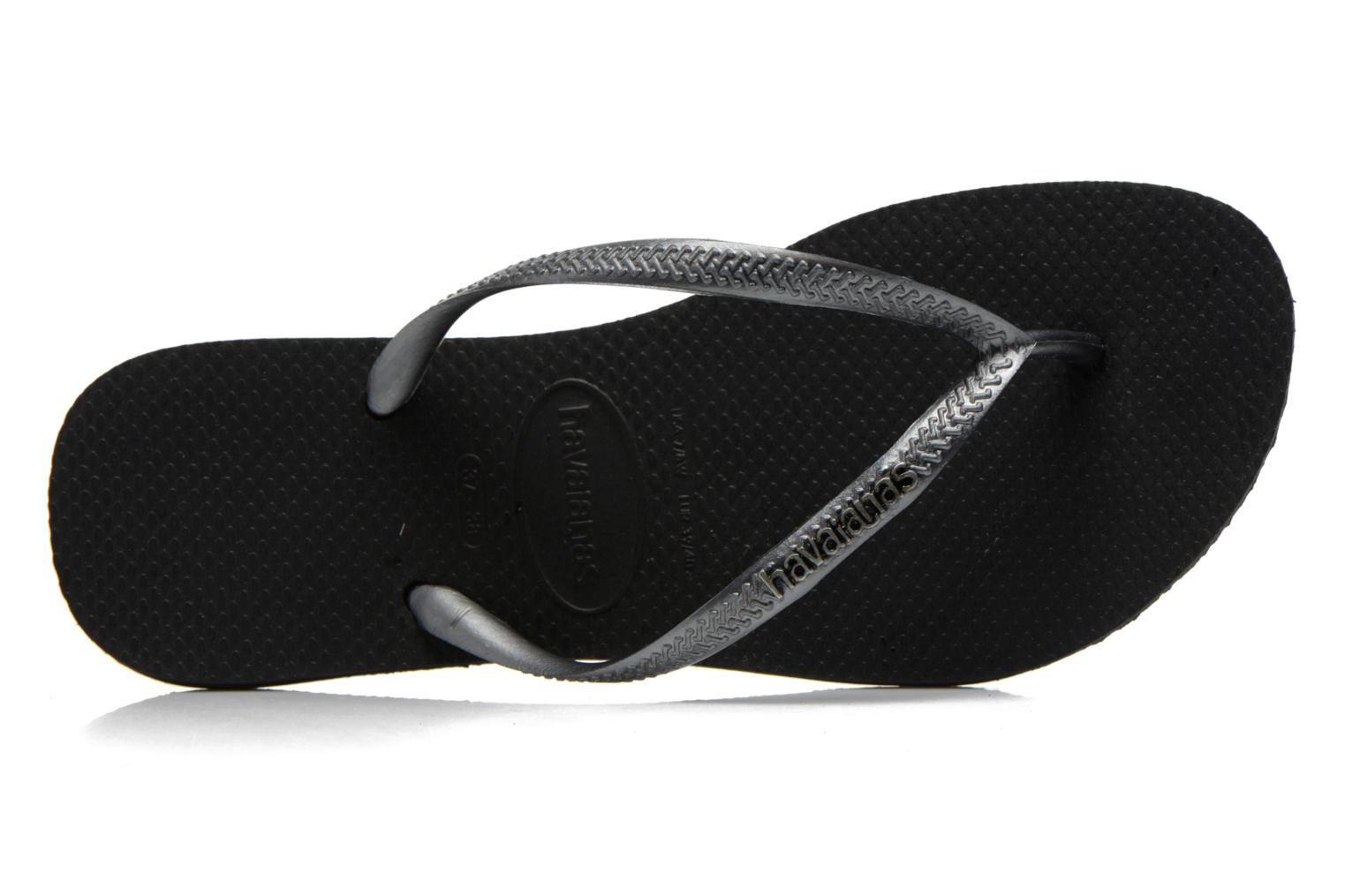 Slim Logo Metallic BLACK GRAPHITE