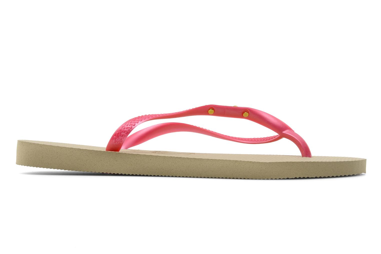 Flip flops Havaianas Slim Logo Metallic Pink back view